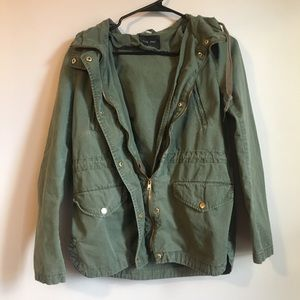 Love Tree Green Military/ Utility Jacket
